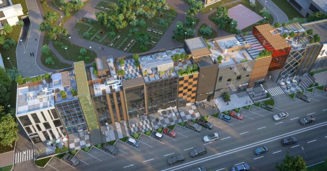 Концепция делового центра «Новоостаповский» © Arch Group