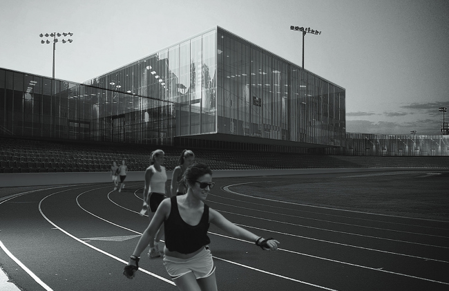 """Sports and education complex """"Academy of Team Sports"""" © Vissarionov Studio"""