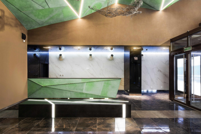 """The entrance group of the multifunctional complex """"Savelovsky City"""" © T+T Architects"""