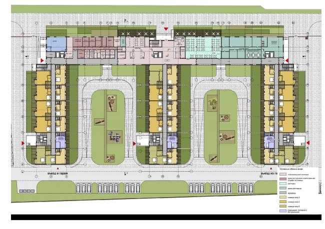 Гостиничный комплекс на ул. Островитянова. План 1 этажа © ГранПроектСити