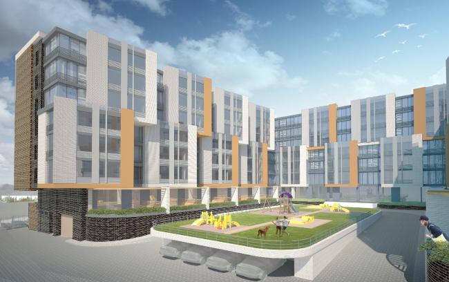 Гостиничный комплекс на ул. Островитянова © ГранПроектСити
