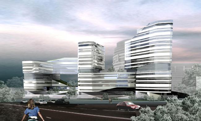Концепция здания олимпийского комитета России. Вариант 2 © ГранПроектСити