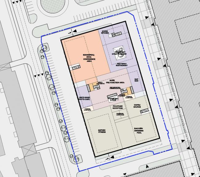 Многофункциональный комплекс President Plaza. План 2 этажа