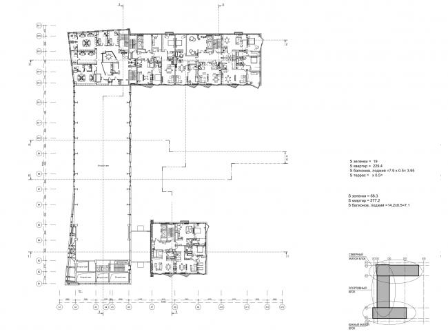 План 3 этажа © ам «Атриум»