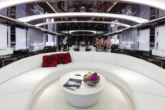 "Interior design of ""MySky"" Yacht © Emilio Bianchi"
