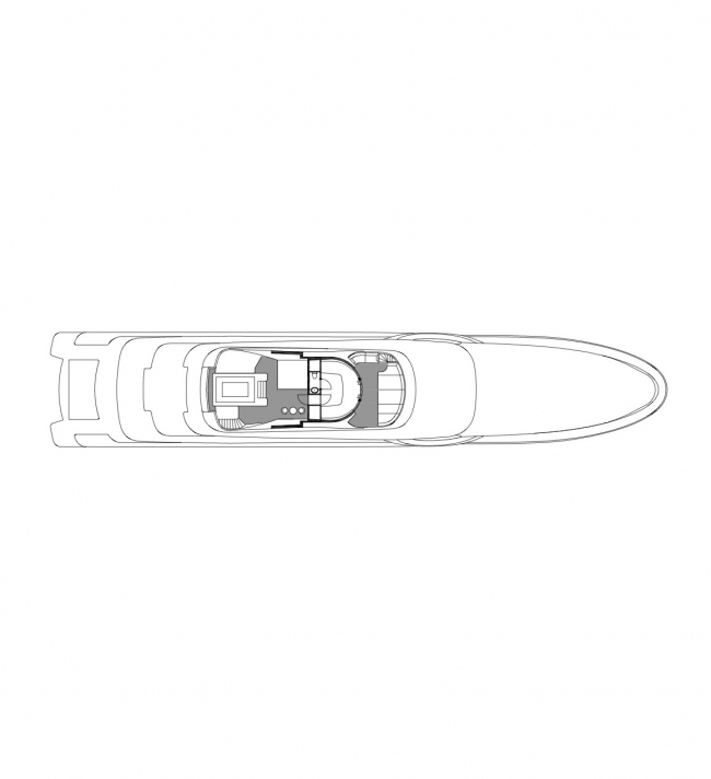 Plan of the top deck © Designed by Erick van Egeraat