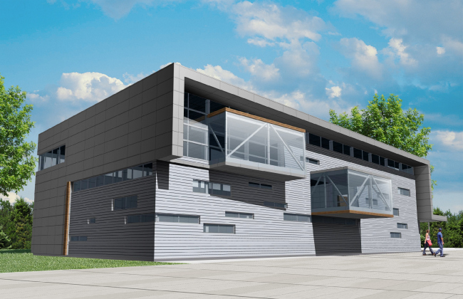 Универсальный спортивный зал © Архитектурное бюро «А.Лен»