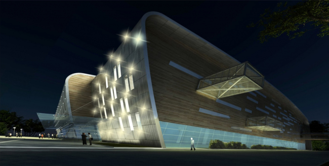 "Training facility of ""Zenith"" football club © ""A.Len"" Architectural Bureau"