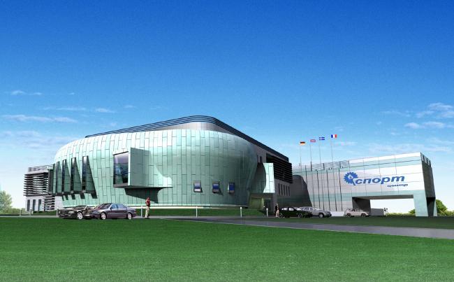 "Sport and recreation facility of Civil Service Academy © ""A.Len"" Architectural Bureau"