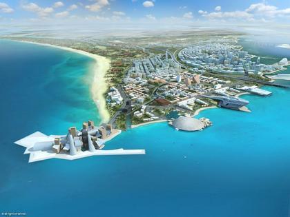 Остров Саадийат. Абу-Даби. Вид «района культуры». Проект