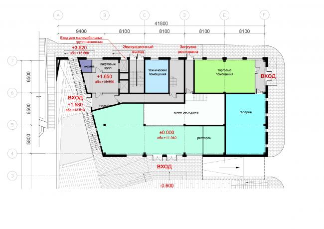 План 1 этажа проектируемого здания © ABD architects