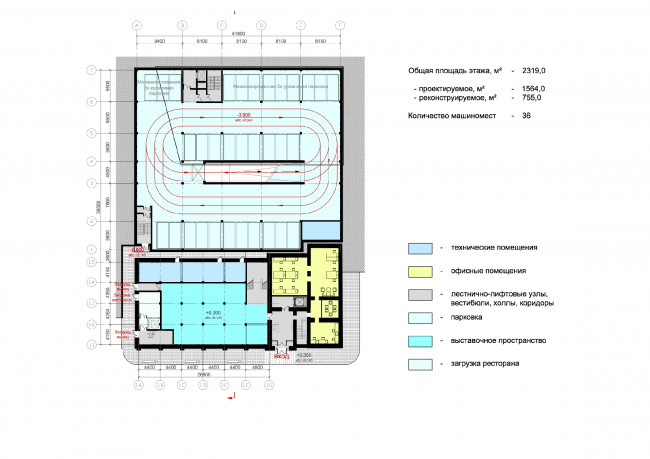 Plan of the basement floor © ABD architects