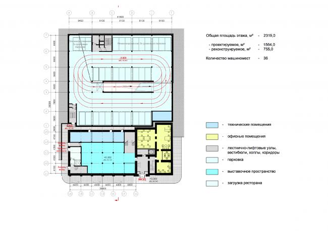 Plan of the basement floor © ABD architects