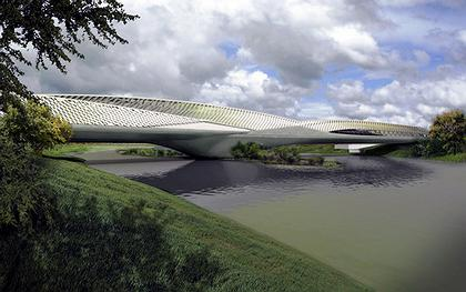 Мост-павильон ЭКСПО-2008. Проект