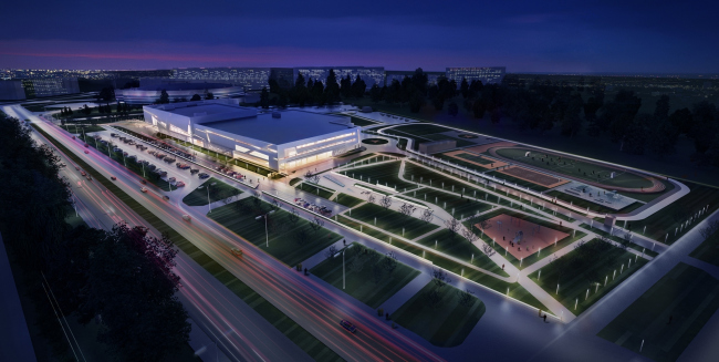 Спортивный комплекс хоккейного клуба СКА. Проект, 2012 © А.Лен