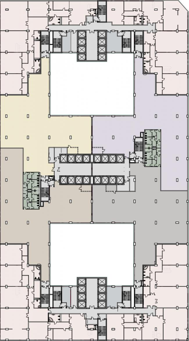 Многофункциональный комплекс President Plaza. План типового этажа