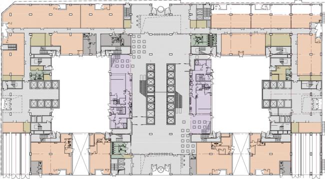 Многофункциональный комплекс President Plaza. План 1 этажа