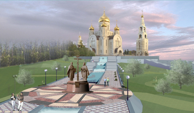 "Stella monument ""To the Pioneers of Yugra"" © Project by Karen Saprichyan"