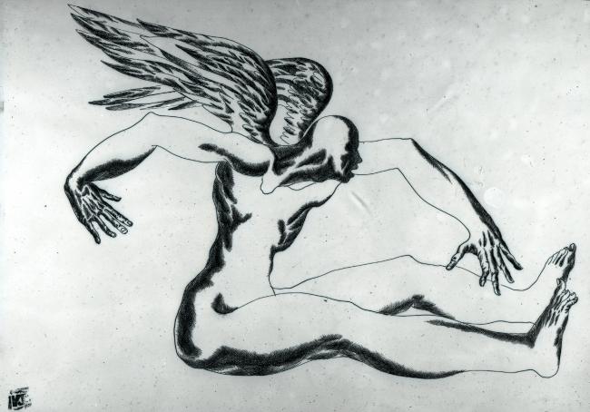 Картина «Неспособный к полету». 1991 год. Автор Карен Сапричян