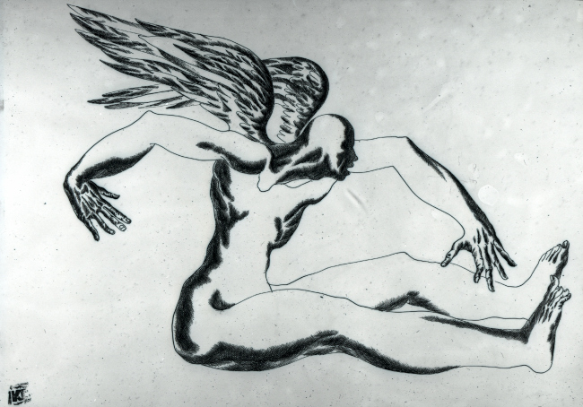 """Unable to Fly"", 1991. Author: Karen Saprichyan"