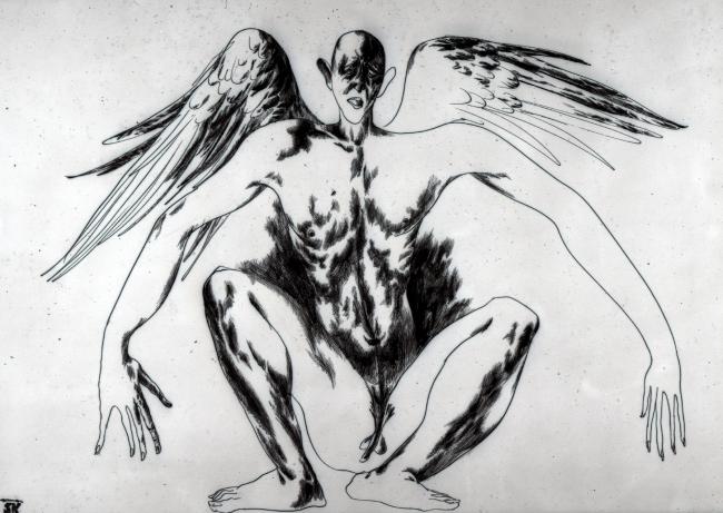 Картина «Неспособный к полету». 1992 год. Автор Карен Сапричян