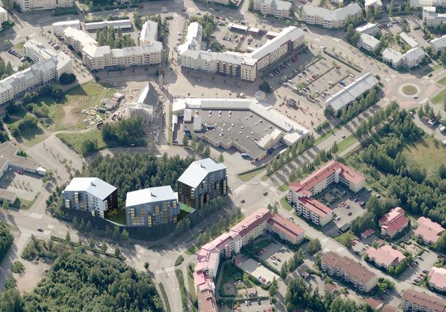 Жилой комплекс Puukuokka © OOPEAA
