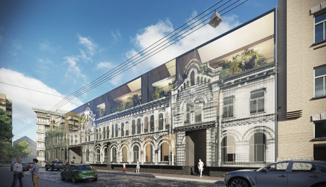 """""""Architectural Spiritism"""" Project of renovating the property complex © Arch Group"""