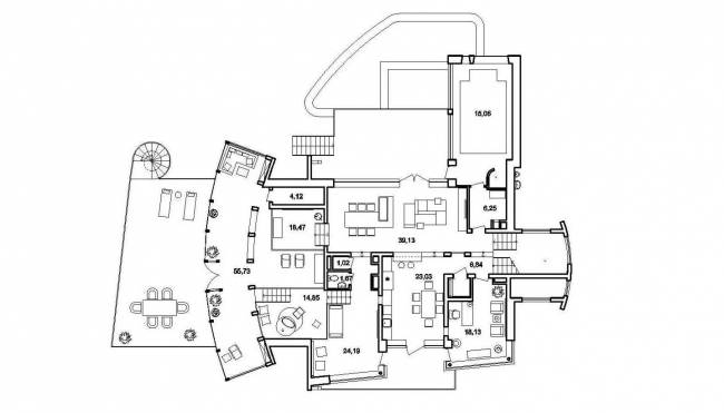 План 1 этажа © Архитектурное бюро Романа Леонидова