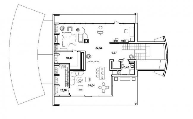 План 3 этажа © Архитектурное бюро Романа Леонидова