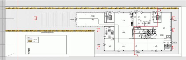 Генплан на уровне 1 этажа. Павильон России на ЭКСПО 2015 в Милане © SPEECH