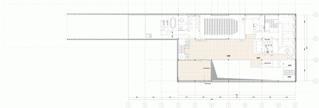Plan of the second floor. Russian Pavilion at EXPO 2015 in Milan. SPEECH. © SPEECH