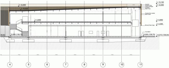 Поперечный разрез. Павильон России на ЭКСПО 2015 в Милане © SPEECH