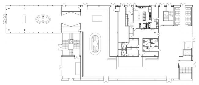 План 1 этажа. Павильон России на ЭКСПО 2015 в Милане © SPEECH