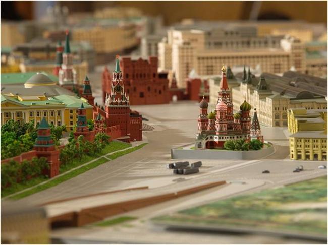 Архитектурный макет Москвы. Фотография с сайта stroi.mos.ru