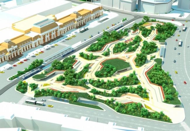 Концепция благоустройства Павелецкой площади. Изображение с сайта archsovet.msk.ru © ОАО «РВ-Метро»