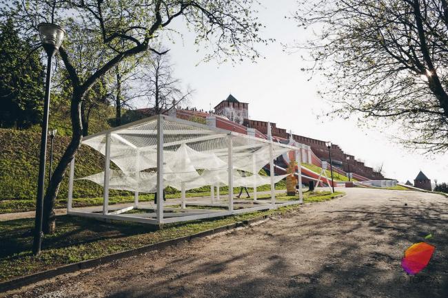 «Гамаки», команда «Parkitects», Москва. Фото: Анна Липман