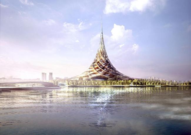 Норман Фостер. «Хрустальный остров». Проект. Москва, Россия