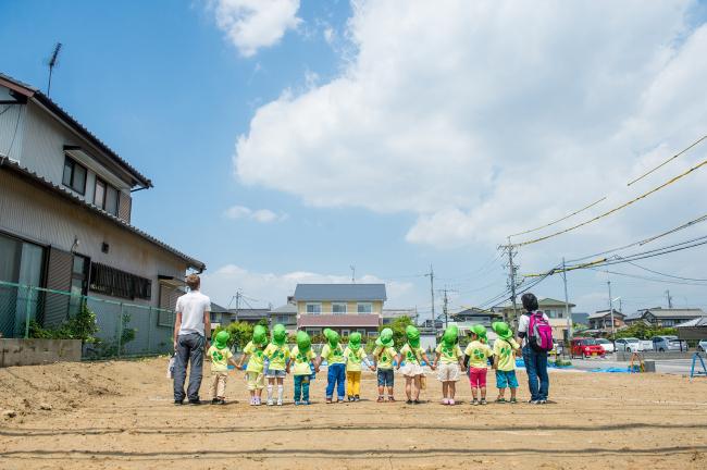 Церемония закладки детского сада Сlover House © MAD Architects