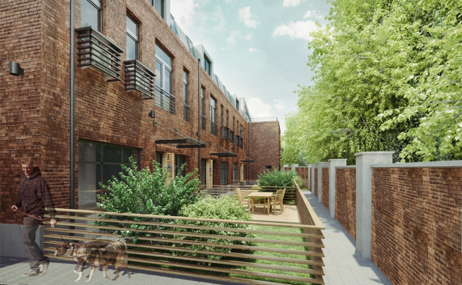 """Remodelling the industrial park into the loft quarter """"Studio #8"""" © T+T Architects"""