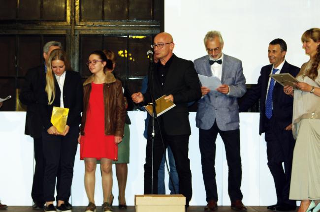 Награждение победителей. Команда проектировщиков Николая Лызлова. Фотография Аллы Павликовой