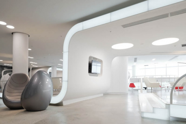 Номинация «Дизайн идея». Аэропорт Курумоч,  бизнес-залы, Самара. Авторы: Nefa Architects