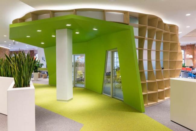 Номинация «Организация пространства». Офис «Яндекс». Авторы: архитектурная мастерская «Атриум»