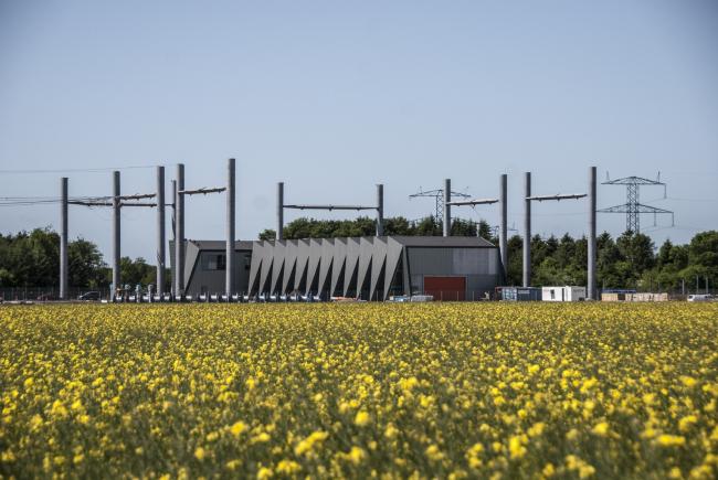 Электростанция в Вайене (Дания). Проектировщик: C.F. Møller Architects. Заказчик: Energinet.dk. Материалы: Rheinzink. Фото: Anne-Mette Hansen