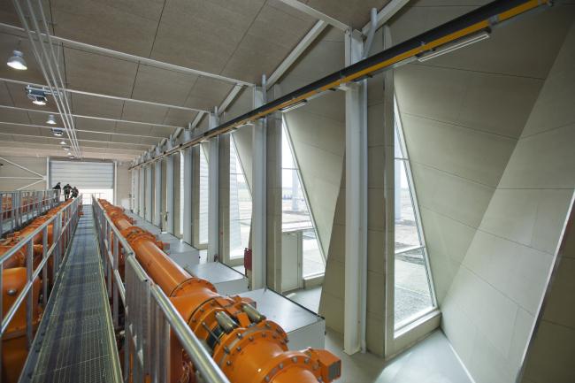 Электростанция в Вайене (Дания). Проектировщик: C.F. Møller Architects. Заказчик: Energinet.dk. Материалы: Rheinzink. Фото: Julian Weyer
