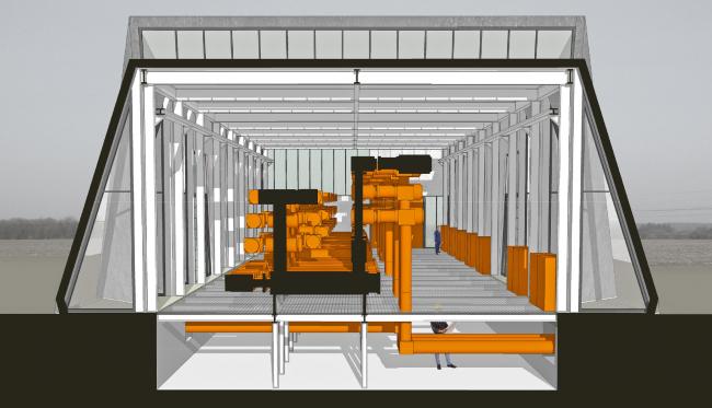 Электростанция в Вайене (Дания). Проектировщик: C.F. Møller Architects. Заказчик: Energinet.dk. Материалы: Rheinzink  © C.F. Møller