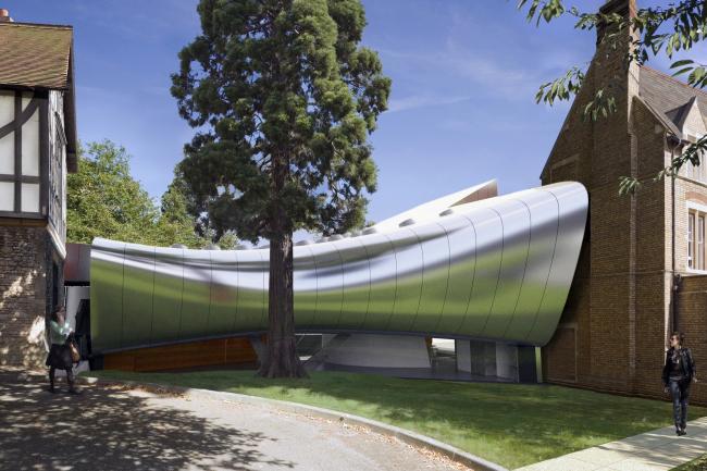 Корпус Investcorp Центра Ближнего Востока Колледжа Сент-Энтони Оксфордского университета. Проект 2013 года © Zaha Hadid Architects