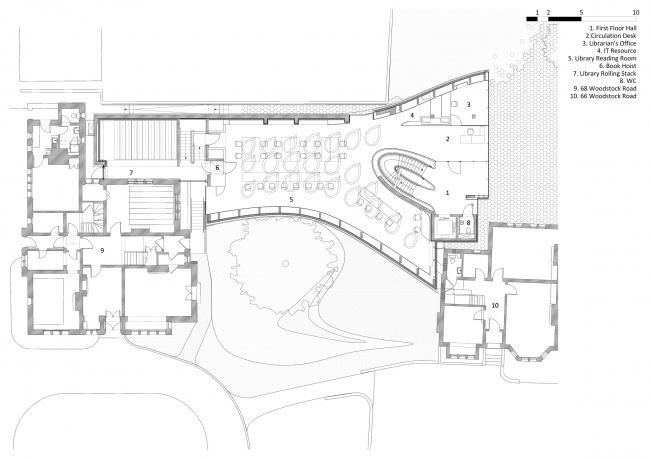 Корпус Investcorp Центра Ближнего Востока Колледжа Сент-Энтони Оксфордского университета © Zaha Hadid Architects