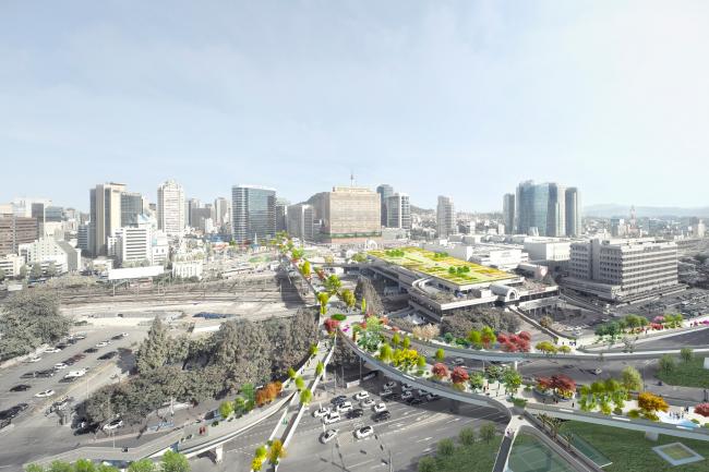 Парк-эстакада Seoul Skygarden © MVRDV