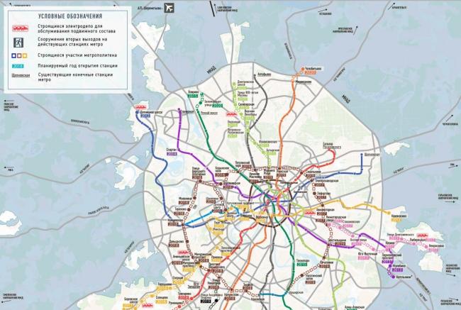 новая карта метро москва