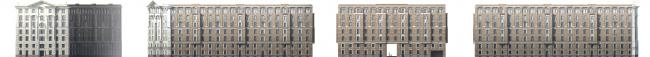 Многоквартирный дом со встроенными помещениями на Морском проспекте. Интерьер. Проект, 2014. Фасады © Евгений Герасимов и партнеры